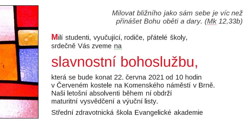 Pozvánka SZŠ 2021